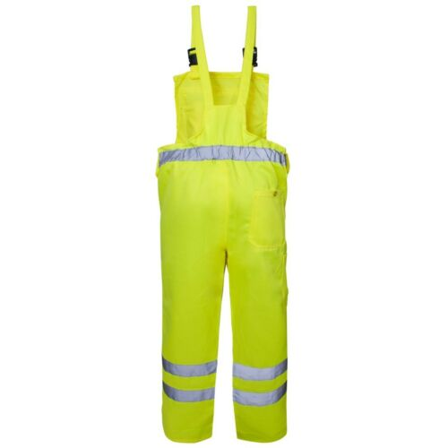 Supertouch Yellow Hi Visibility Polycotton Work Bib and Brace Dungarees Trousers