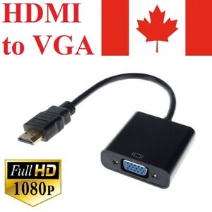 HDMI-Male-to-VGA-Female-Video-Cable-Cord-Converter-Adapter-1080P-For-TV-Monitor