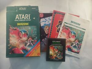 Atari-2600-Picture-Label-Berzerk-Complete-w-Box-Manual-Comics-amp-Catalog-Tested
