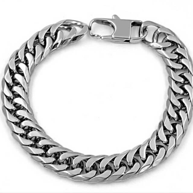 Men's Stainless Steel Biker Heavy Wide Bracelet