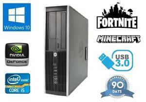Cheap-Fast-HP-Quad-Core-i5-Fortnite-Gaming-PC-500Gb-HDD-8GB-RAM-HDMI-Windows-10