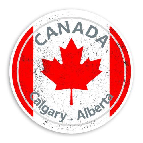 2 X 10cm Calgary Alberta-Canadá Pegatina de pegatinas de vinilo Laptop Equipaje #20127