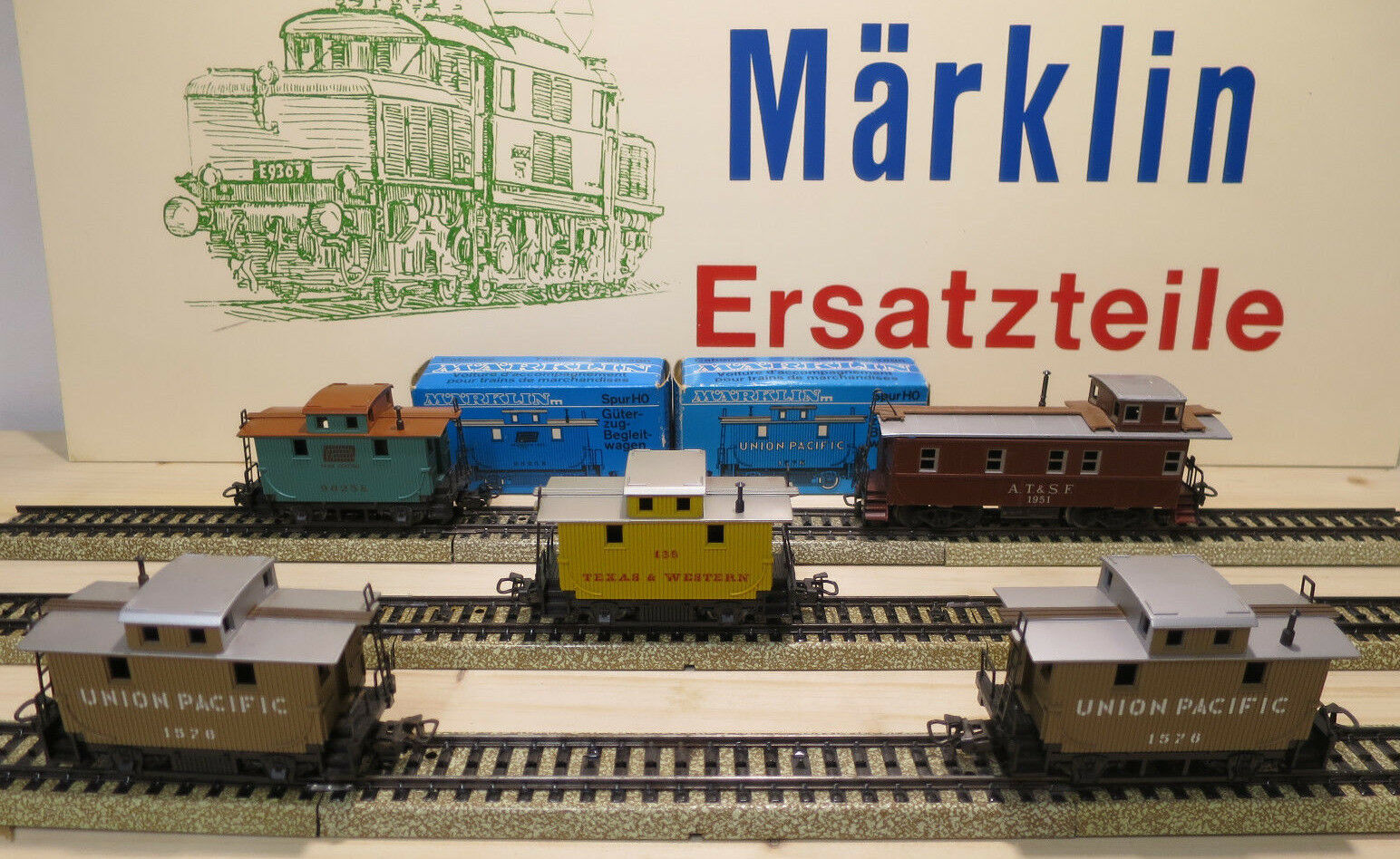 (MB) Märklin Cambuse 4570 4576 4577 Texas & Western Emballage D'Origine