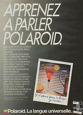 Publicité 1985  Appareil photo POLAROID SLR 680