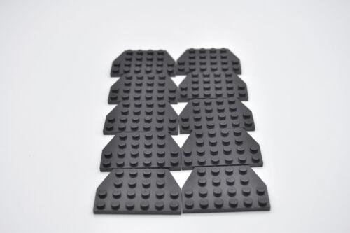 LEGO 10 x Flügelplatten 4x6 schwarz black plate 4x6 26° 32059 4129572