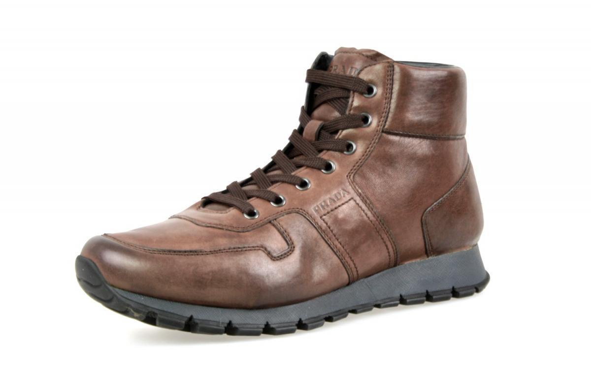 Auténtico de lujo Prada Half-Zapatos Bota 4T2855 marrón nuevo nos 9.5