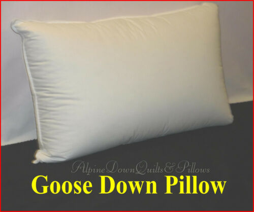 100% COTTON COVER 1 X KING SIZE PILLOW 90% GOOSE DOWN SEASONAL SALE