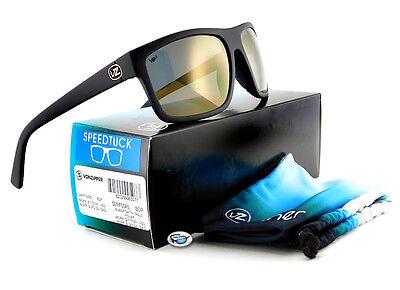 Von Zipper SPEEDTUCK POLARIZED Sunglasses | BDP Black Satin/ Gold Polar VP3 Lens