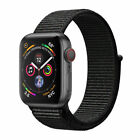 Apple Watch Series 4 - 44 mm Space Gray Aluminum Case with Black Sport Loop (GPS + Cellular) - (MTUX2LL/A)