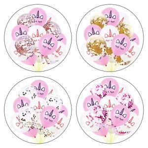 15x-Licorne-Confettis-Latex-Ballons-Anniversaire-Enfants-Theme-Party-Decor