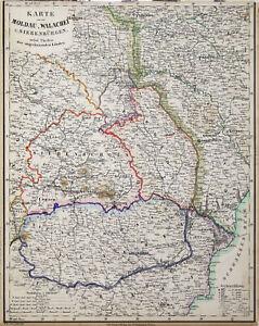 Transilvania Romania Cartina.Romania Transilvania Originale Litografia Cartina Geografica Flemming 1854 Ebay