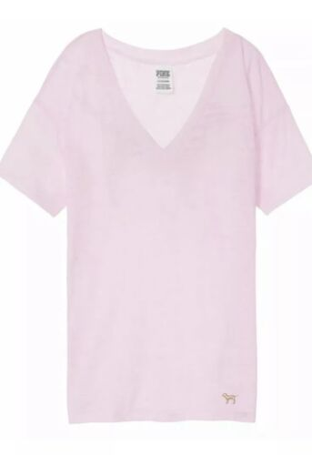 Bling shirt rosa con Victoria Secret T Big ghette grandi Gold Nwt segreta runs Con PdnIw