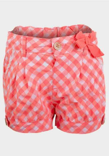 Bnwt Filles Lily /& Lola Rose /& Blanc Check Shorts Âges 12-18 /& 18-24 mois
