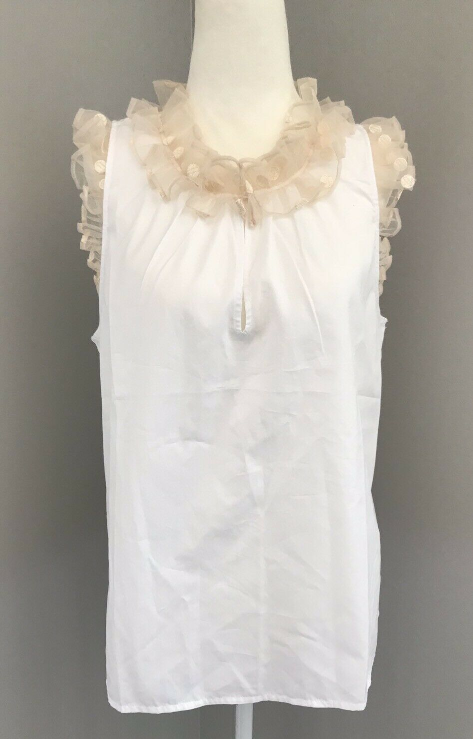 NEW COLLECTION THOMAS MASON FOR J. CREW TOP WITH TULLE TRIM SZ 2  G5915