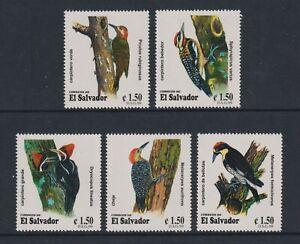 El Salvador - 1999, Spechte, Vögel Set - MNH - Sg 2497/501