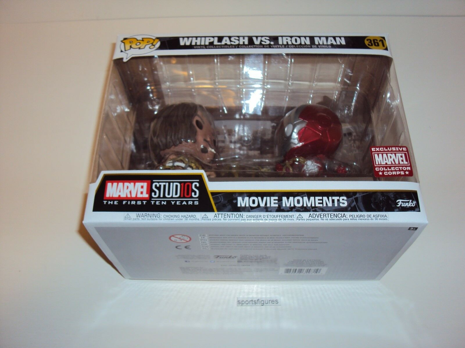 Whiplash VS. Iron Man   361 Marvel Movie Moments Collector Corps Exclusive