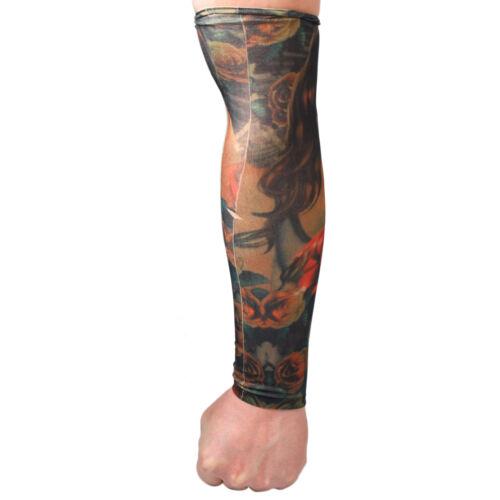 6x Tattoo Ärmel Arm Sleeve Strümpfe Tätowierung Anziehen Kostüme Tattooärmel