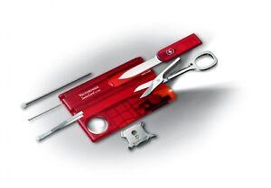 VICTORINOX-Swiss-Card-Lite-Ruby-0-7300-T-c-LED-bianco-NUOVA-COLORE-ROSSO