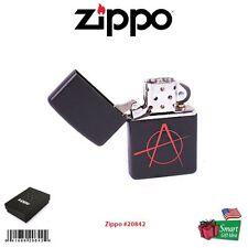 Zippo Anarchy Lighter, Black Matte, Windproof #20842