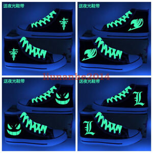 1ed9ca3a98 Anime Luminous Shoes Gengar OW FAIRY TAIL Death Note Leisure Canvas ...