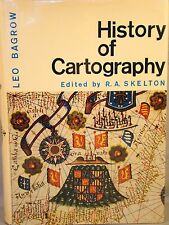 Leo Bagrow. History of Cartography. 1966 DJ 22 Color & 116 B&W Plates Maps