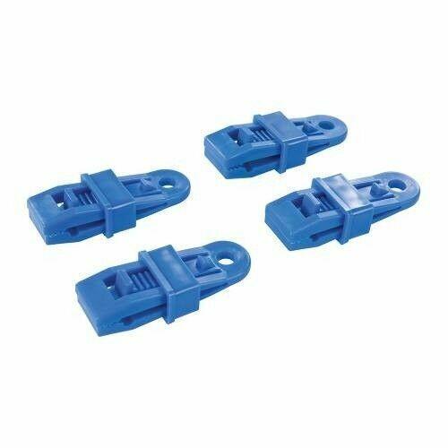 Durable Plastic 4 x Reusable Clip On Tarpaulin Eyelets Tarp Clips