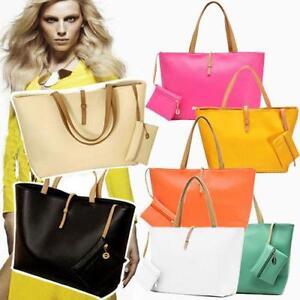 Clasico-Senora-Mujer-Piel-Sintetica-Bolso-De-Mano-Multicolor