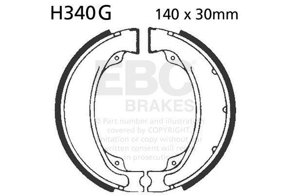 Para Honda TRX 250 V/W/X / y / 1 / TM2 Recon (Manual 97>14 EBC Acanalado Zapato