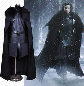 game of thrones jon snow cosplay costume halloween fancy. Black Bedroom Furniture Sets. Home Design Ideas