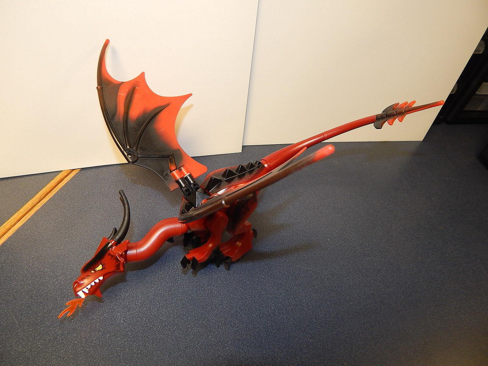 Lego Original Dragon  Fantasy Era  with Dark rosso Head, Complete Assembly 01