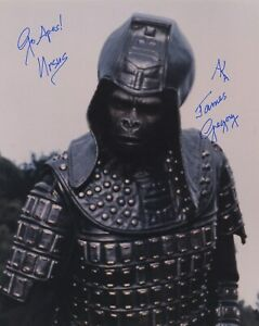 JAMES-GREGORY-SIGNED-AUTOGRAPHED-THE-PLANET-OF-THE-APES-COLOR-PHOTO-GEN-URSUS