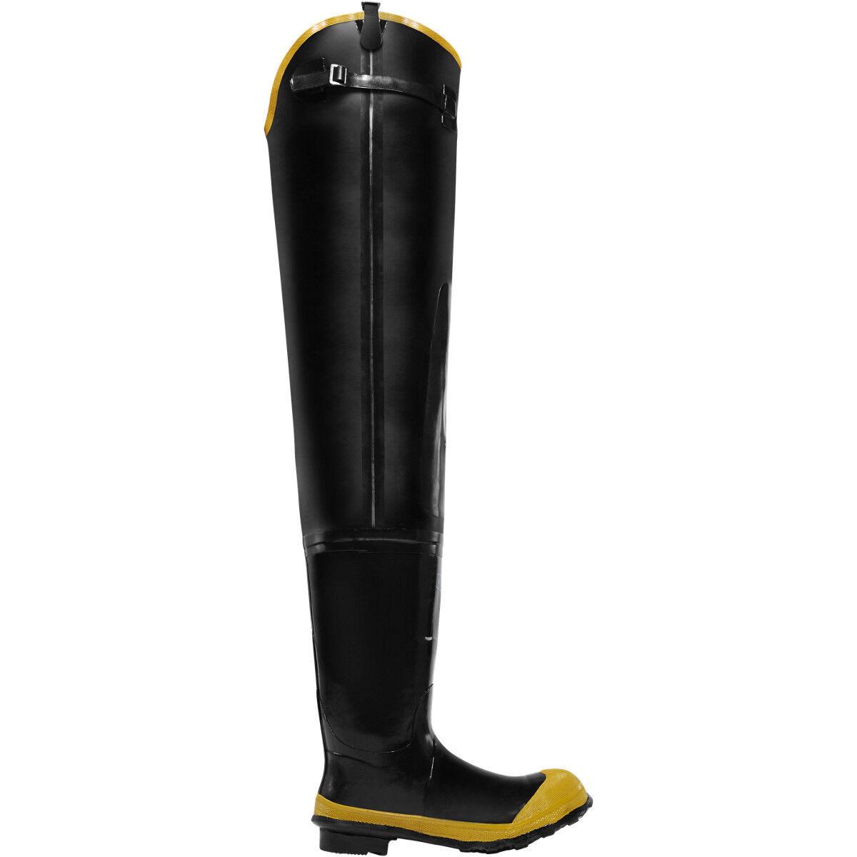 Lacrosse Men's 24009091 Economy 32  Steel Toe Waterproof Black Rubber Hip Boots
