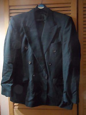 Brioso St. Michael Marks & Spencer Verde Scuro 40s 90% Nuova Lana 10% Cashmere Blazer In Buonissima Condizione-mostra Il Titolo Originale