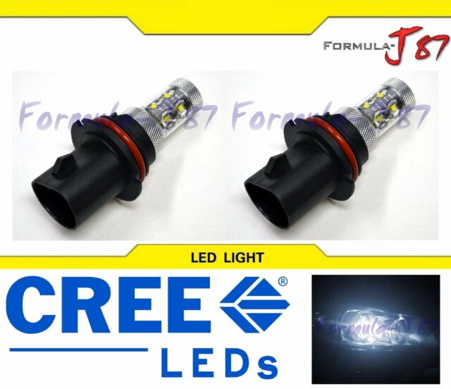CREE LED 50W 9004 HB1 WHITE 5000K TWO BULB HEADLIGHT OFF ROAD PLUG PLAY REPLACE