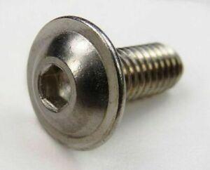 M6 pulsante flangiato testa in acciaio INOX A2 Allen Socket VITI BULLONI ISO 7380-2