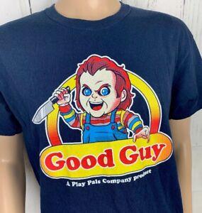 8a5ce385 Chucky T-Shirt Graphic Tee GOOD GUY Horror Doll Short Sleeve Crew ...
