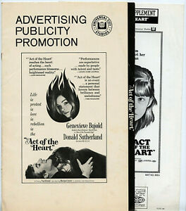 Genevieve-Bujold-ACT-OF-THE-HEART-1970-ORIGINAL-Complete-AD-SUPPLEMENT