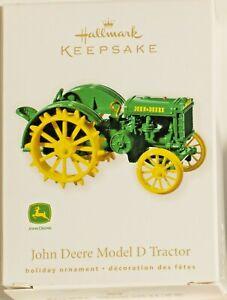 Hallmark-Keepsake-2010-034-JOHN-DEERE-MODEL-D-TRACTOR-034-Ornament-NEW-IN-BOX
