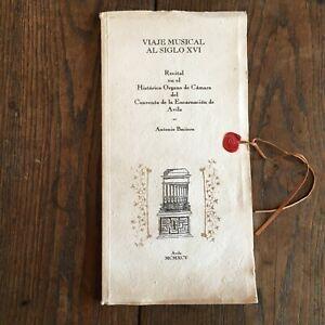 Antonio Baciero Recital Lona Monograma De Camara Del Convento La Encarnación De