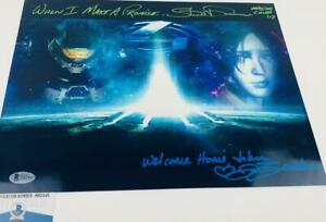 Steve-Downes-Jen-Taylor-DUAL-signed-Master-Chief-Cortana-11x14-photo-BAS-H32445