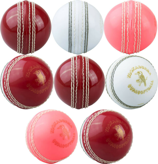 Kookaburra Cricket County League Ball 3 Layer Hand Stitched In 3 Sizes Pink