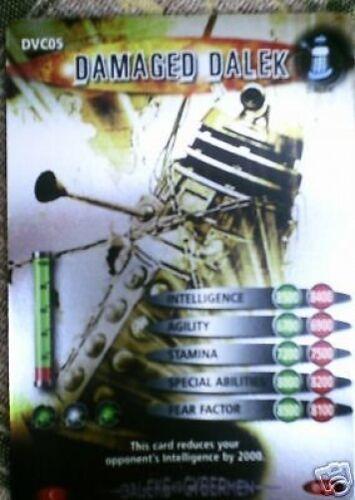WHO DVC DALEKS VS CYBERMEN CARD DVC05 DAMAGED DALEK DR