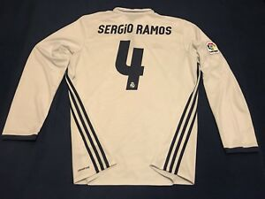 separation shoes 40f67 194e1 Details about REAL MADRID SERGIO RAMOS LONG SLEEVE SOCCER JERSEY BARCELONA  MEXICO AMERICA USA