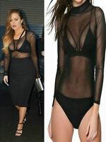 New Womens Ladies Celebrity Strappy Velvet Cage Bralet Bra Mesh Top Size UK 8-14