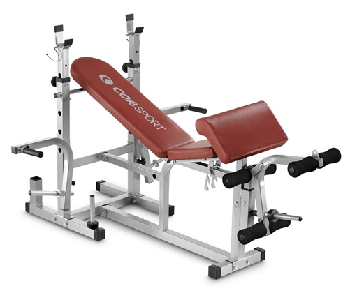 Bench with Support Bars Leg Extensions Arm Curl corsport Home Fitness