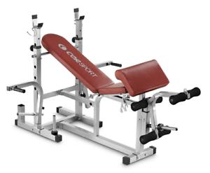Panca con supporti bilancieri leg extension arm curl CORSPORT home fitness