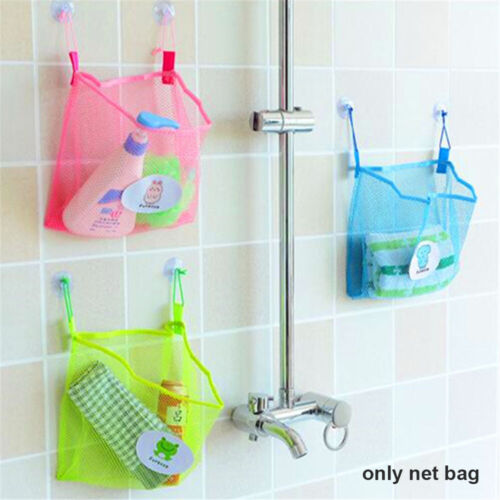 Toy Suction Cups Bathroom Organizer Baby Shower Storage Net Holder Mesh Bag