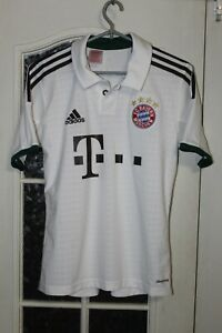 Kids Boys Bayern Munich 2013 2014 Adidas Away White Soccer Shirt Jersey Trikot
