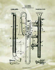 Musical Instruments Motivational Poster Print Trumpet Band Sheet Music MVP179