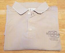 large beige Super Bowl XL Detroit polo shirt, cotton blend, NFL, Steelers